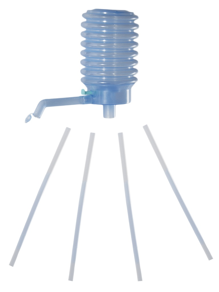 Bomba manual para garrafas de água ou garrafões com tampa de 5 galões