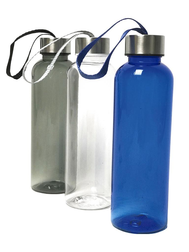 Botellínes 500ml de tritán en azul, gris o transparente