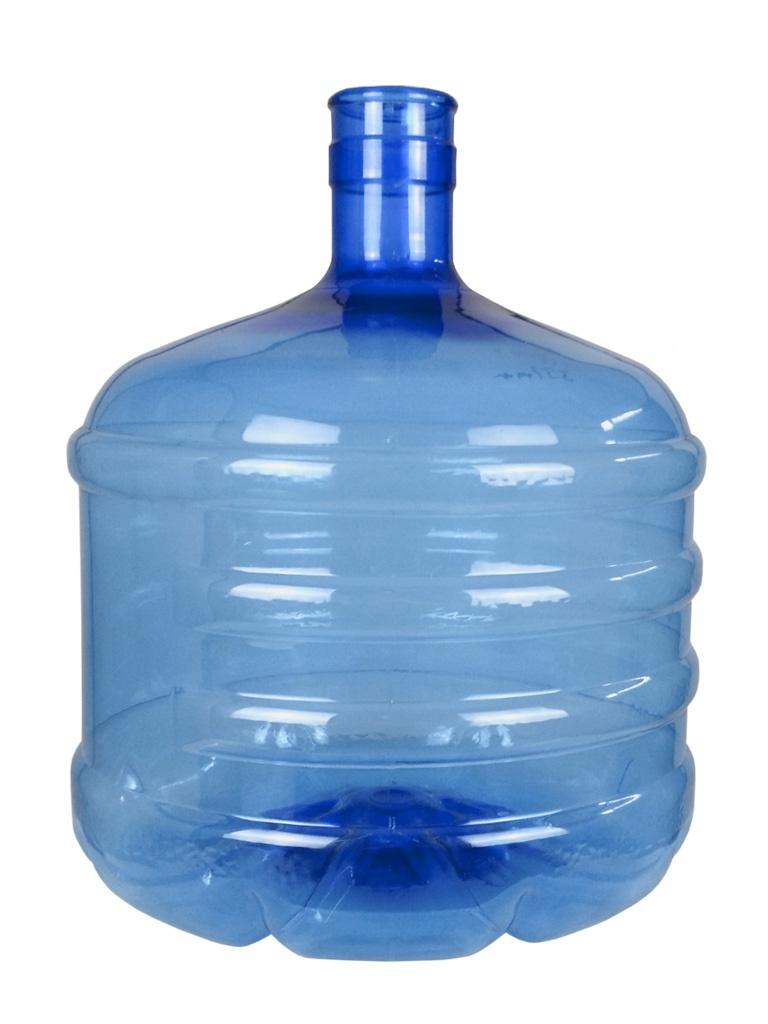 PET bottle 12 litres Blue. Water bottle