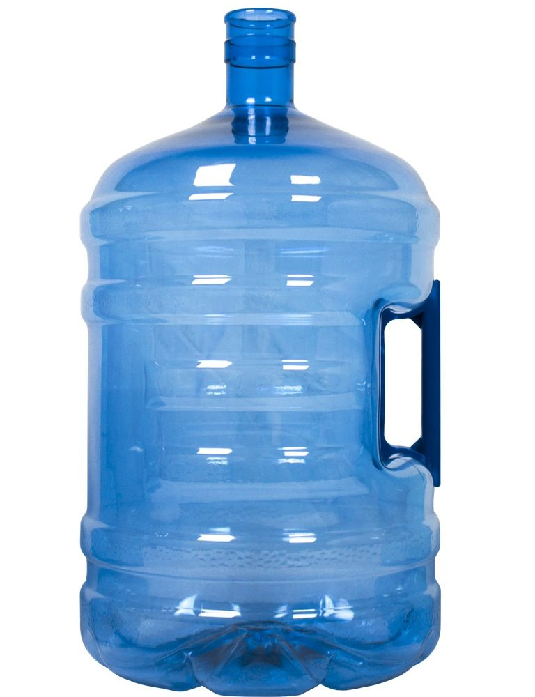 PET bottle 18.9 litres Blue. Water bottle