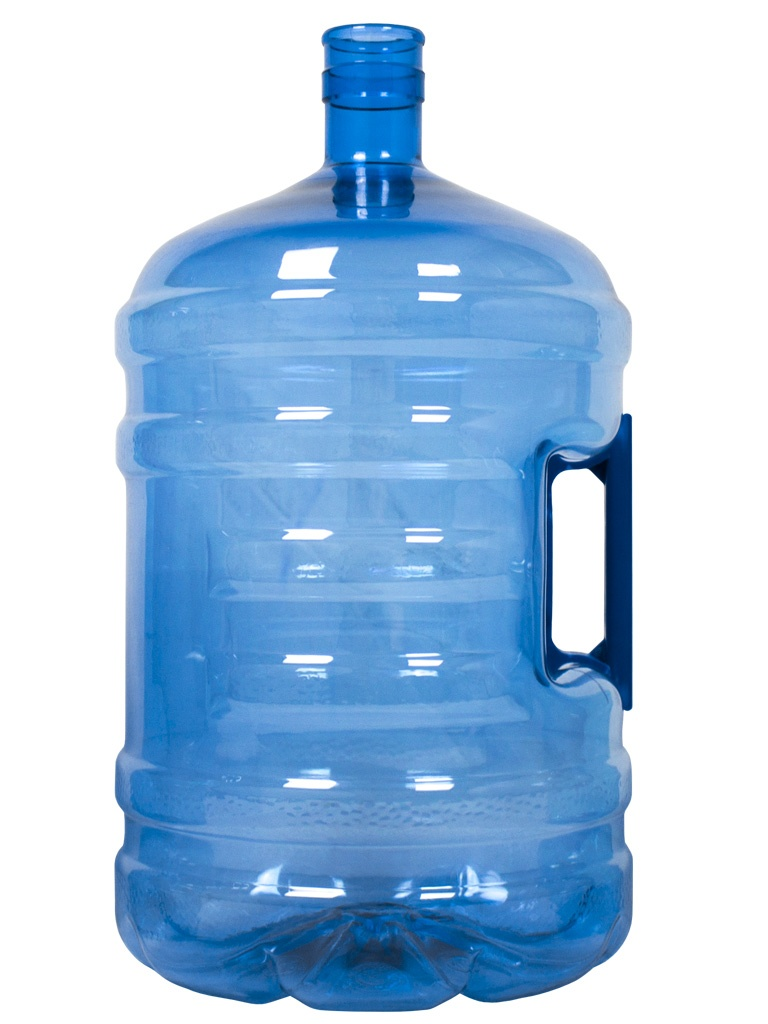 Garrafa PET de 18,9 litros Azul. Garrafão de água