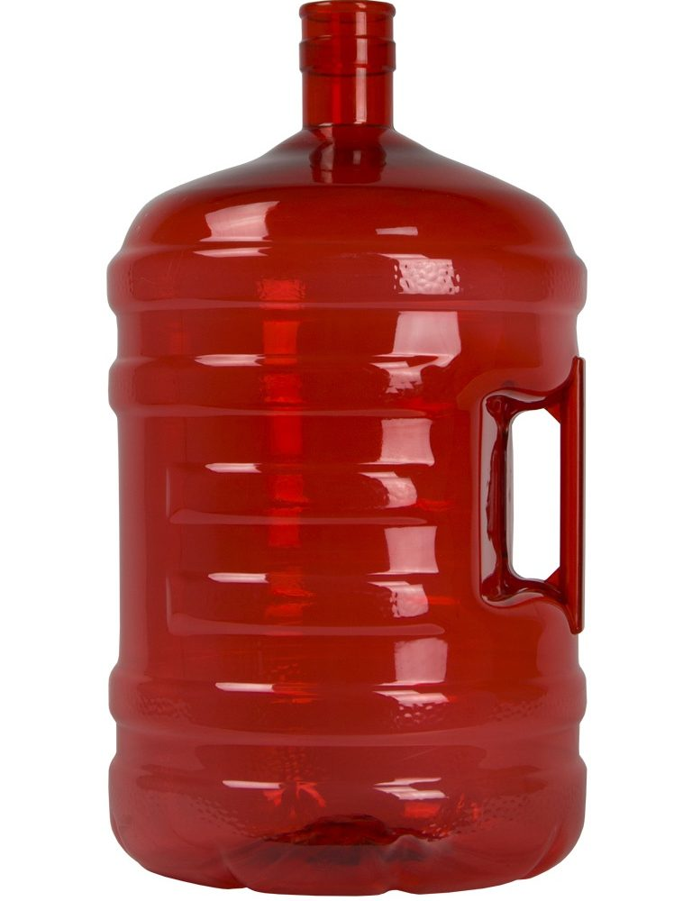 PET bottle 18.9 litres Red. Water bottle