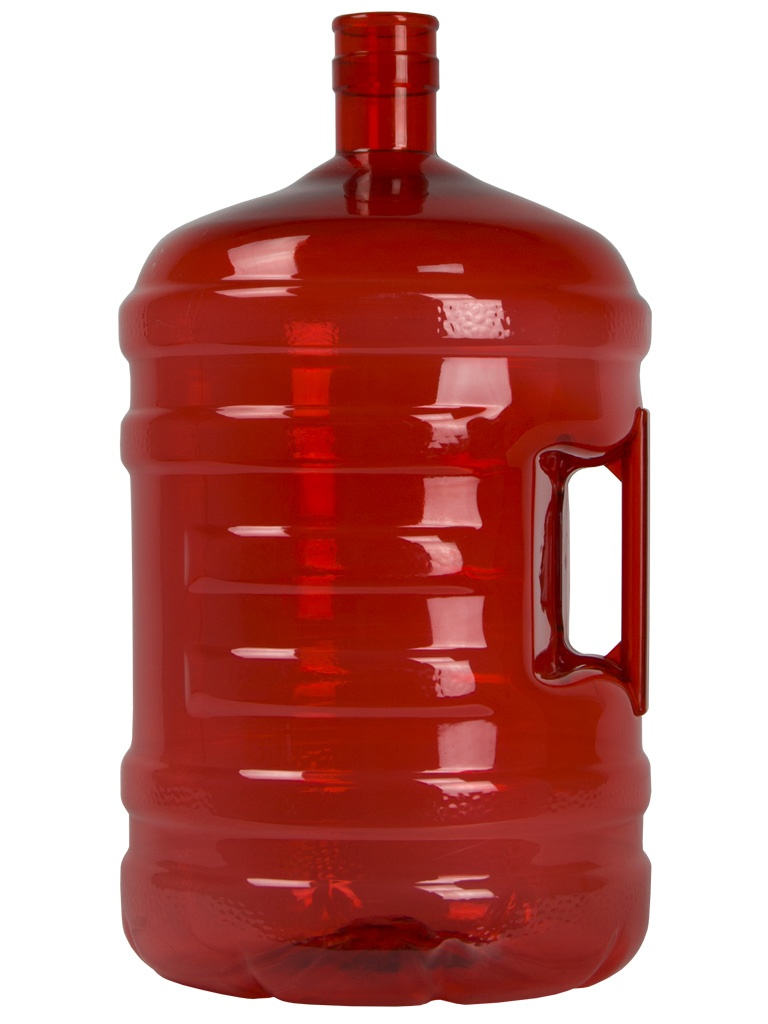 Botellón PET 18.9 litros Rojo. Garrafa para agua