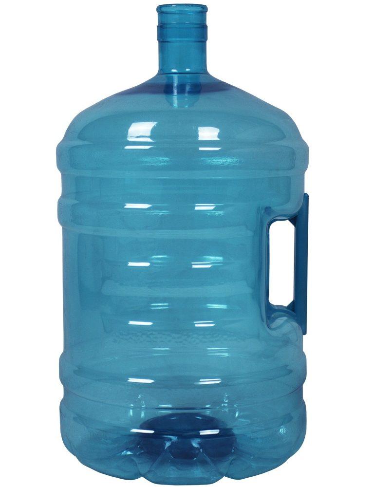 PET bottle 18.9 litres Turquoise. Water bottle