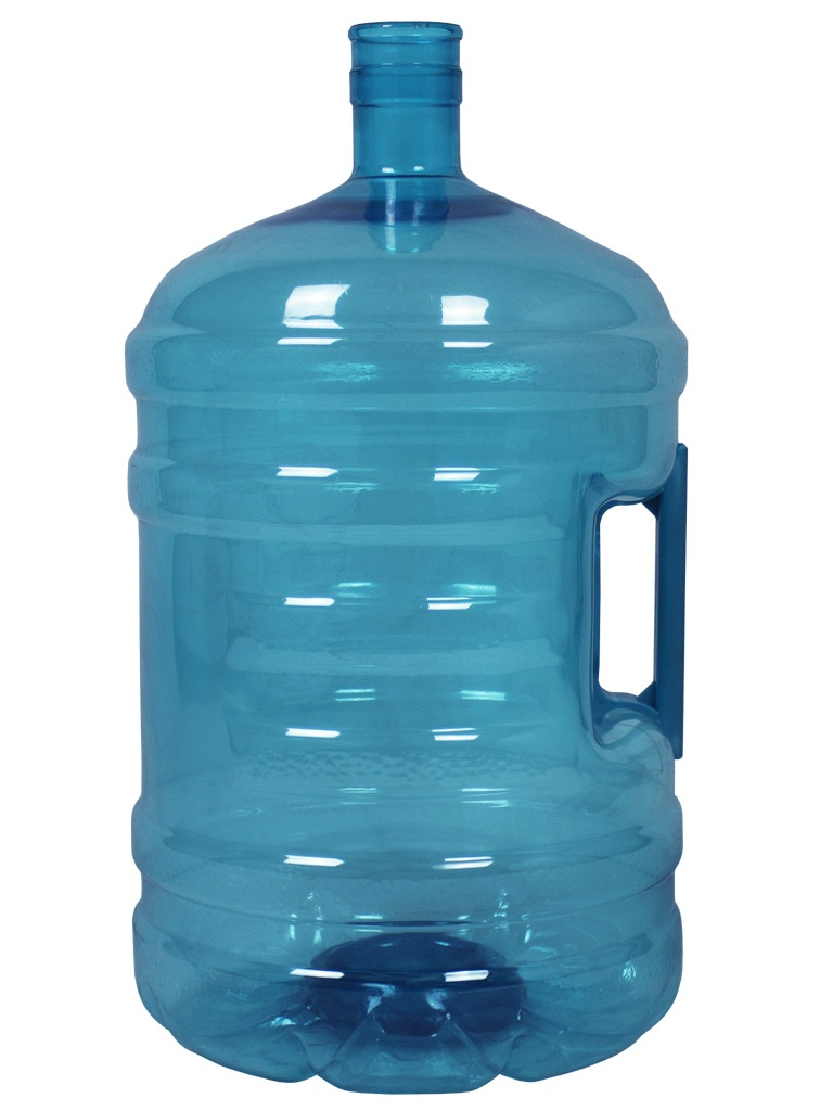 PET bottle 18.9 litres Turquoise. Water bottle