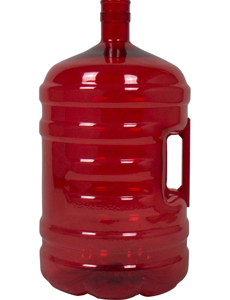 Botellón PET 20 litros Rojo. Garrafa para agua