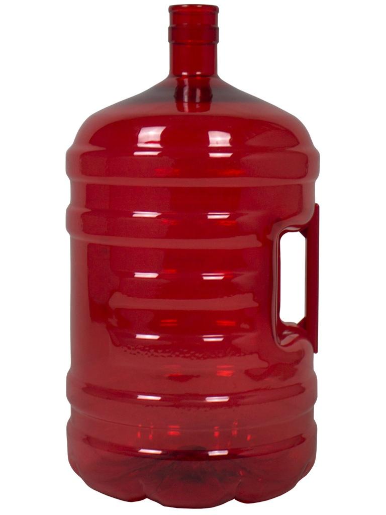زجاجة بلاستيكية 20 لتر لون أحمر. دورق للمياه