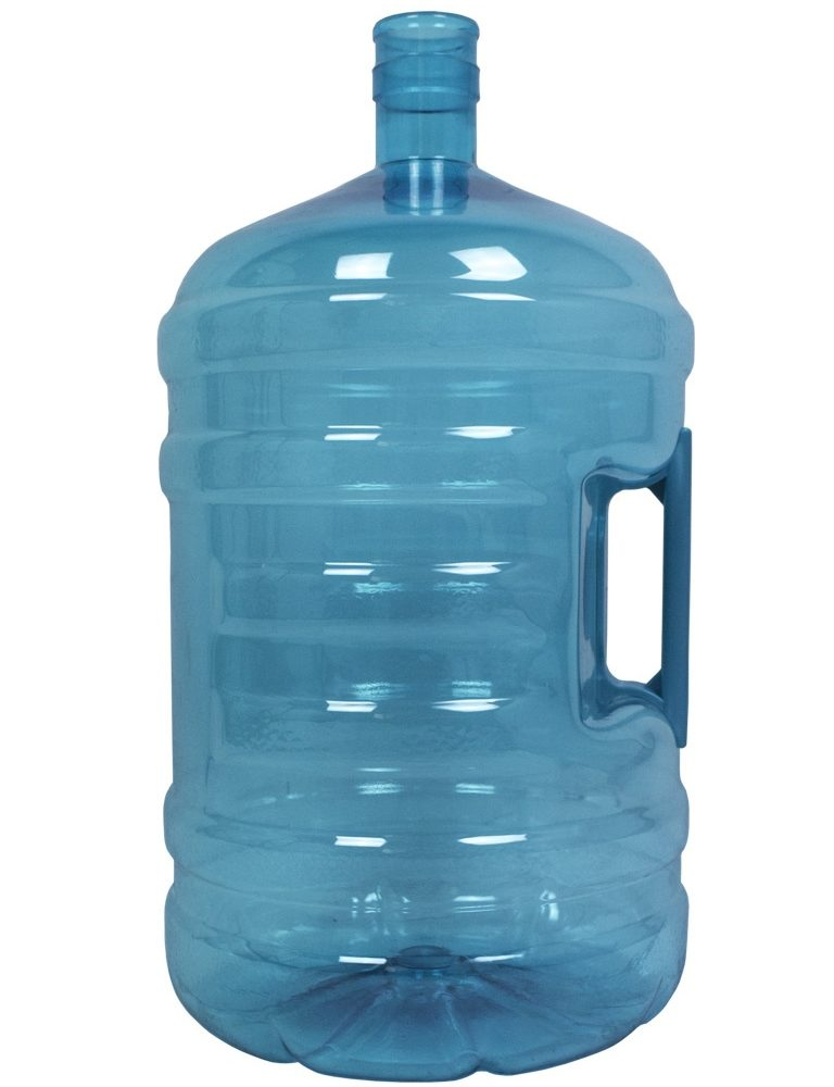PET bottle 20 litres Turquoise. Water bottle