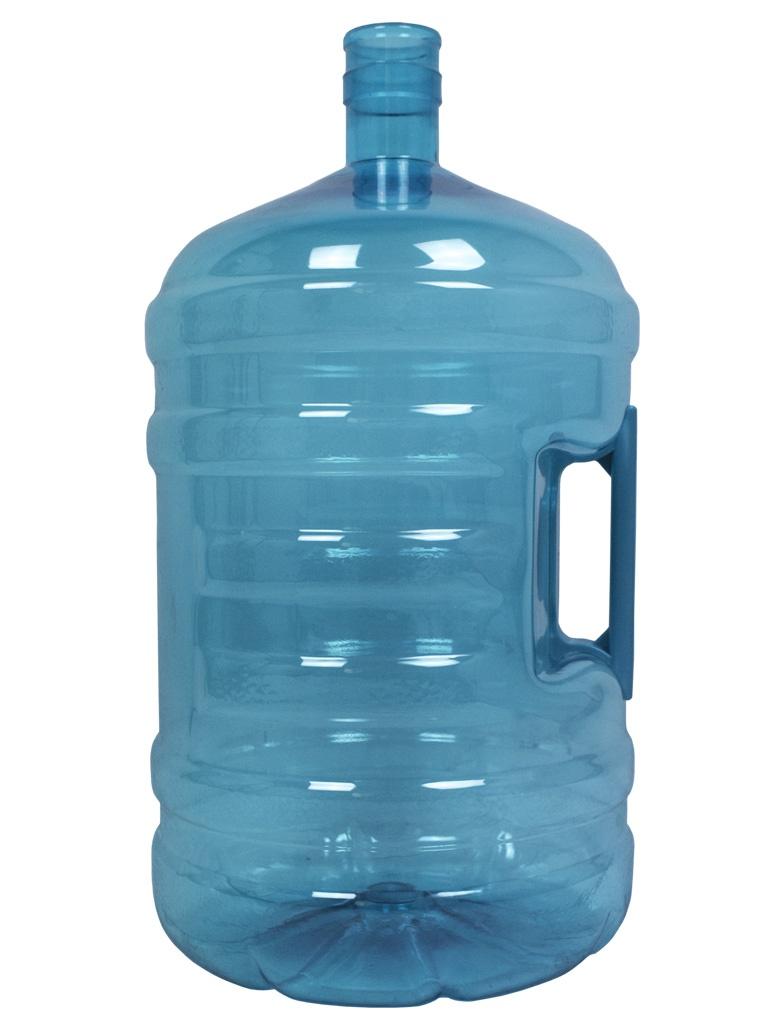 Garrafa PET de 20 litros Turquesa. Garrafão de água