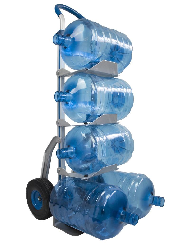 عربة يدوية لـ 5 زجاجات ماء