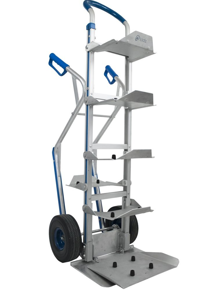 Manual trolley for 7 water bottles or carafes