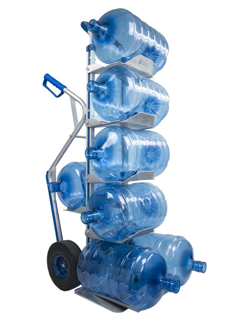 عربة يدوية لـ 7 زجاجات ماء