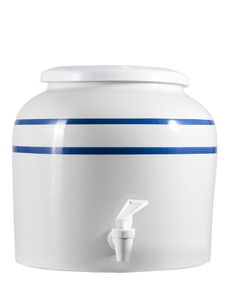 Ceramic dispenser for water bottles or carafes