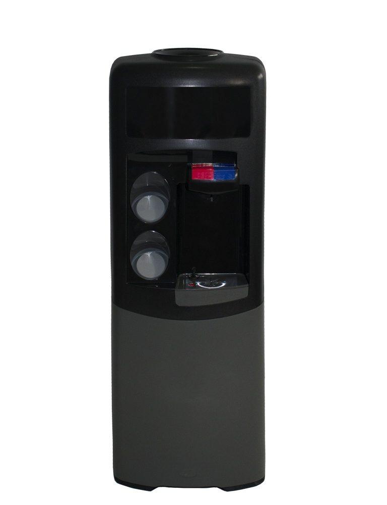 Dispensador de agua Emax de botellón Negra y gris Agua fría y caliente