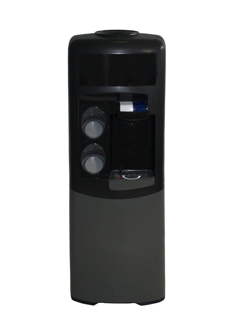 Dispensador de agua Emax de botellón Negra y gris Agua fría y natural