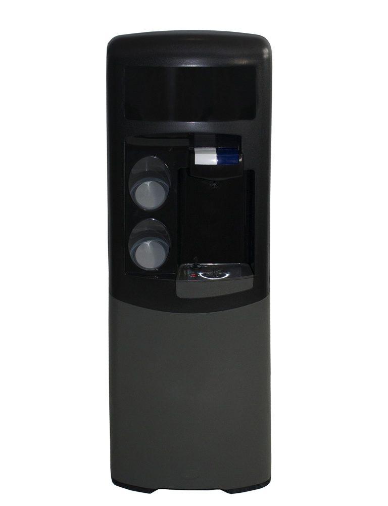 Dispensador de agua Emax de filtración POU Negra y gris Agua fría y natural