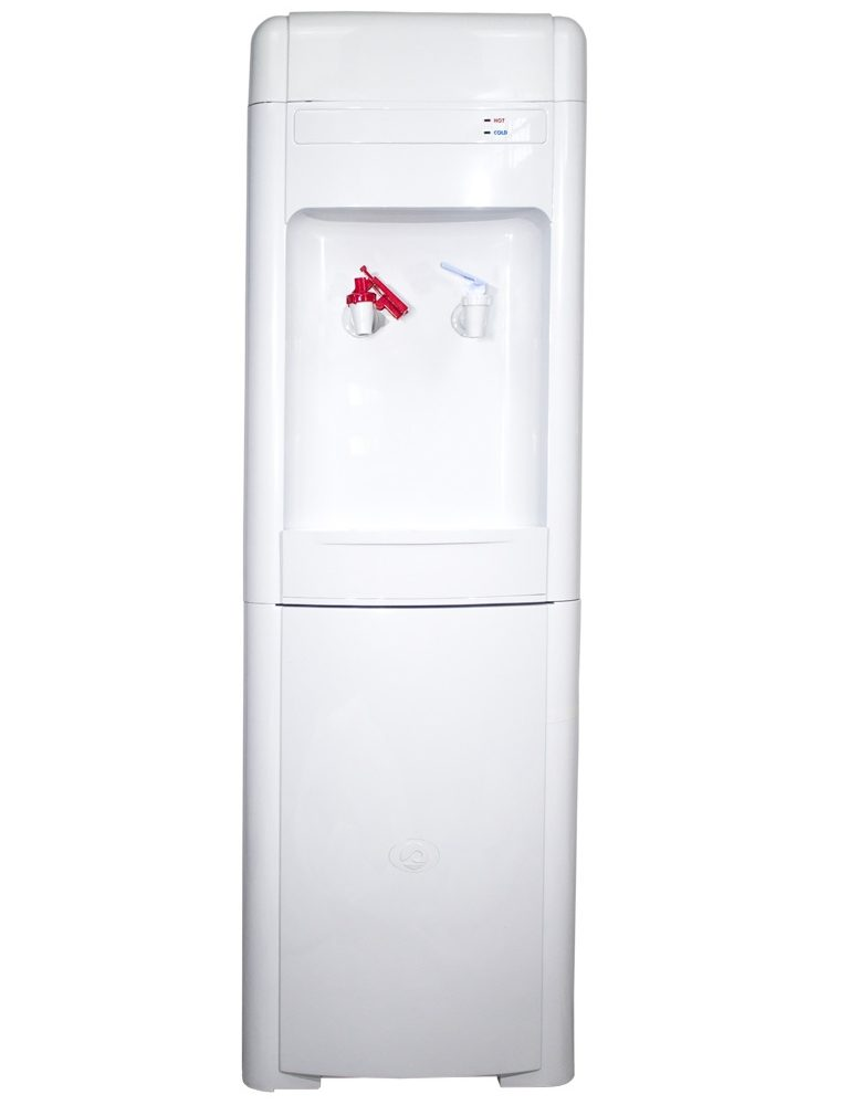 Mains-fed water cooler Le Plein POU with refrigerator