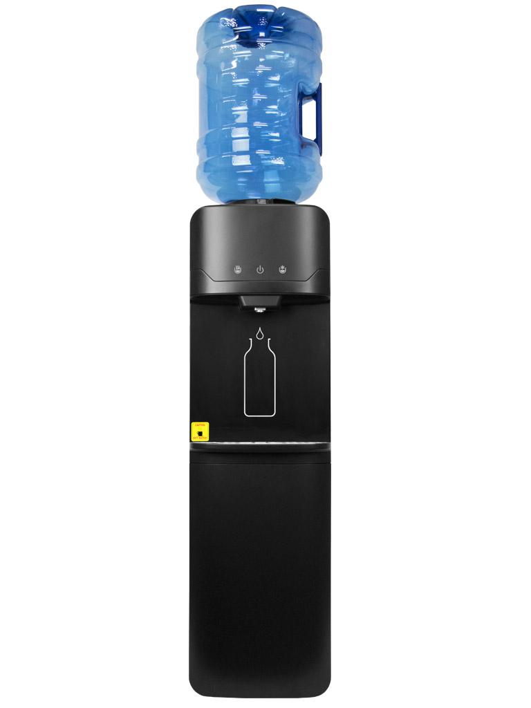 Sensorem Up Negra. Dispensador de agua fría y caliente con sensor. No se toca el dispensador, se activa con gestos. Más higiénico.