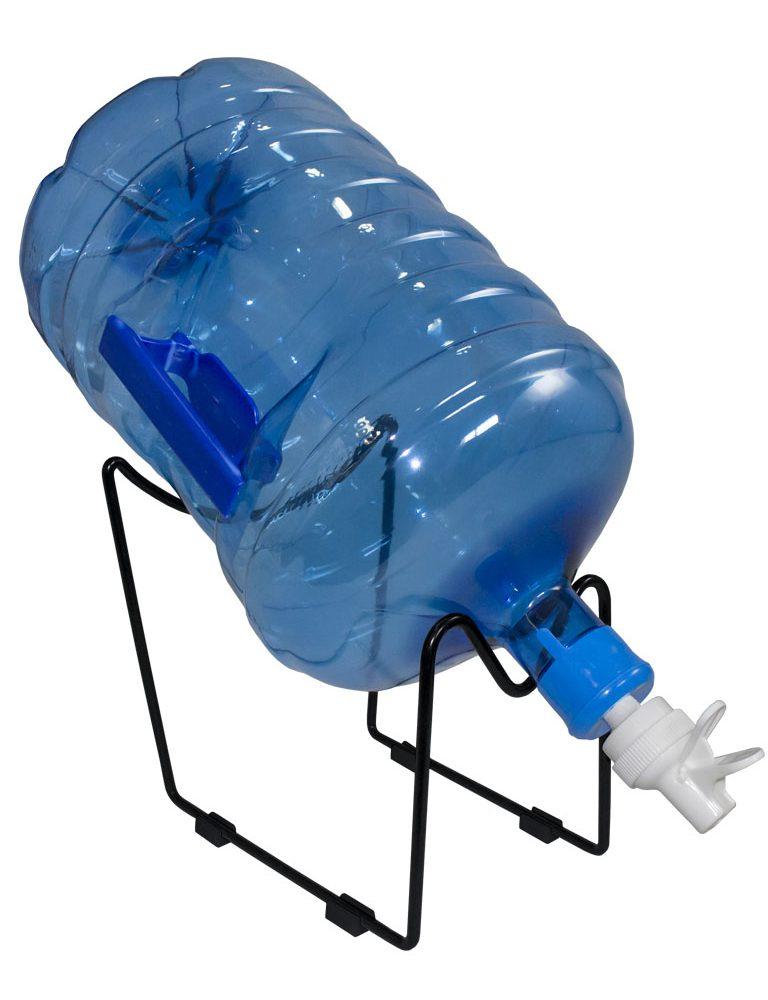 Black support + white tap for bottles or carafes