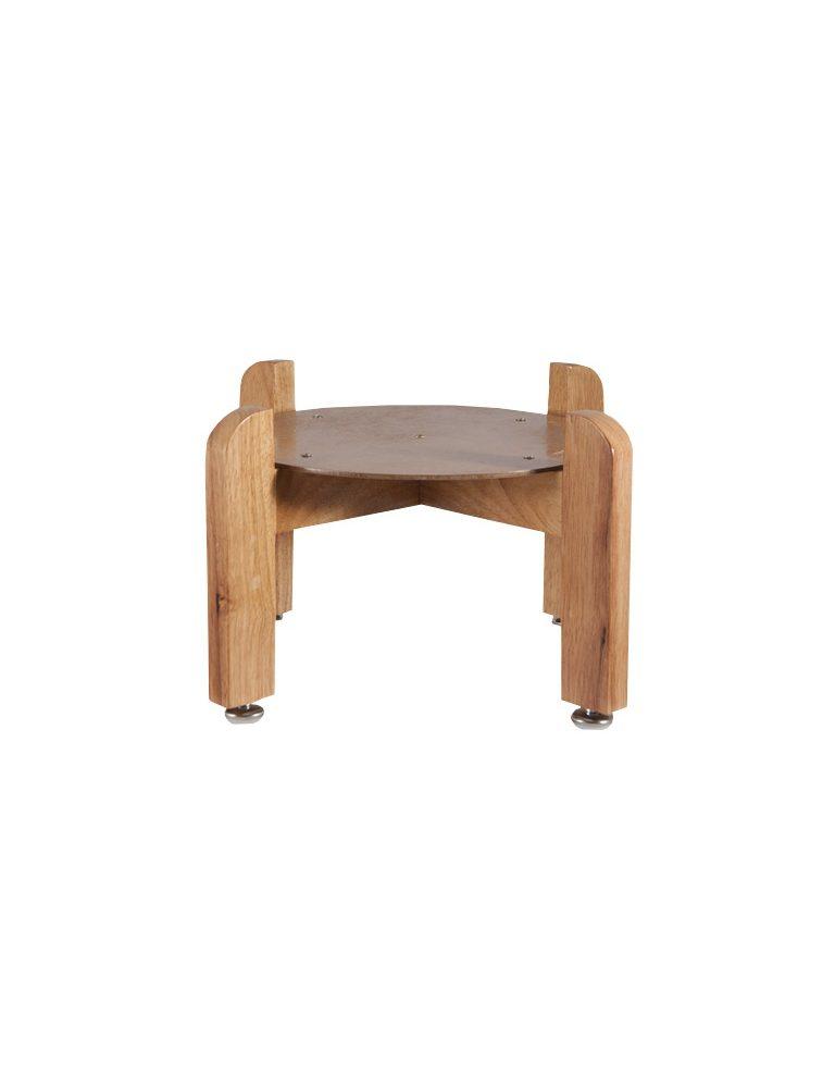Suporte de madeira sobre mesa para dispensador simples ou dispensador de cerâmica