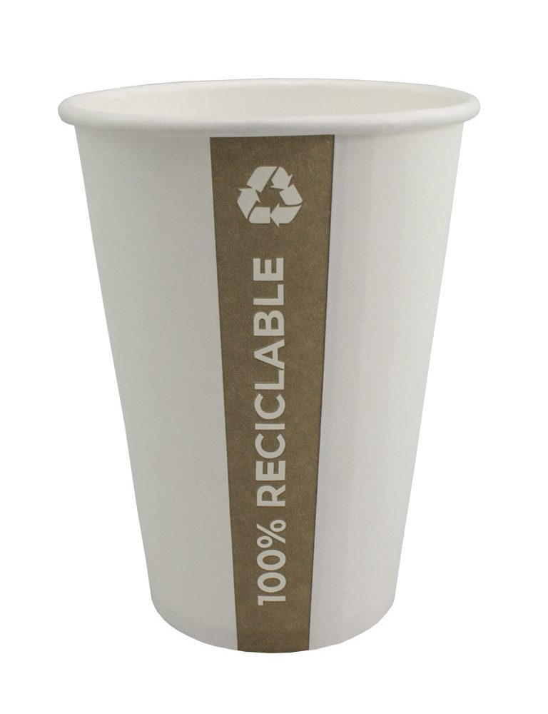 Vaso de papel PE. Totalmente reciclable